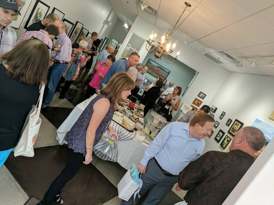 Front room of the new Art on Main Gallery & Gifts at the Grand Opening