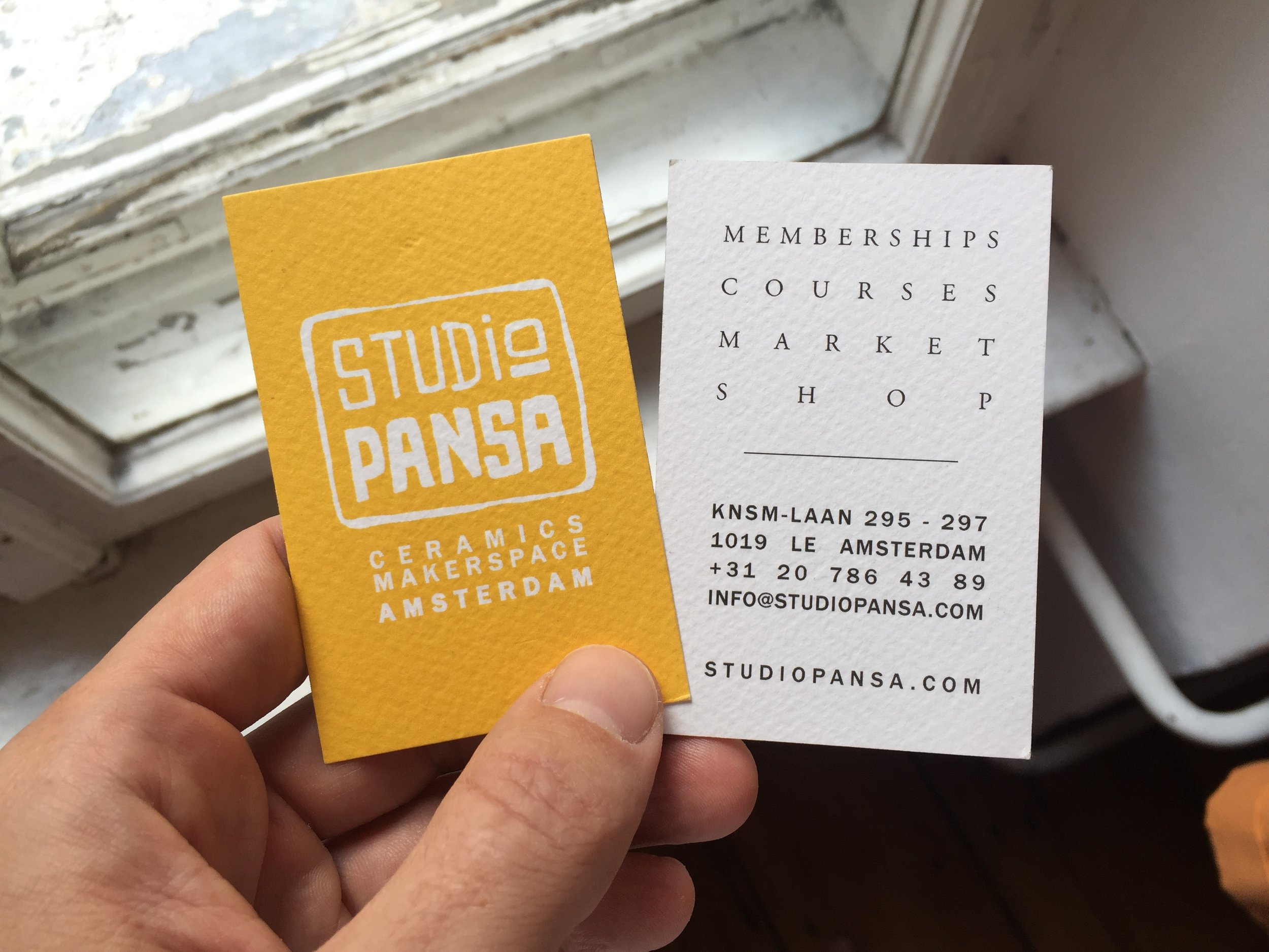 Business cards for Studio Pansa (2019)
