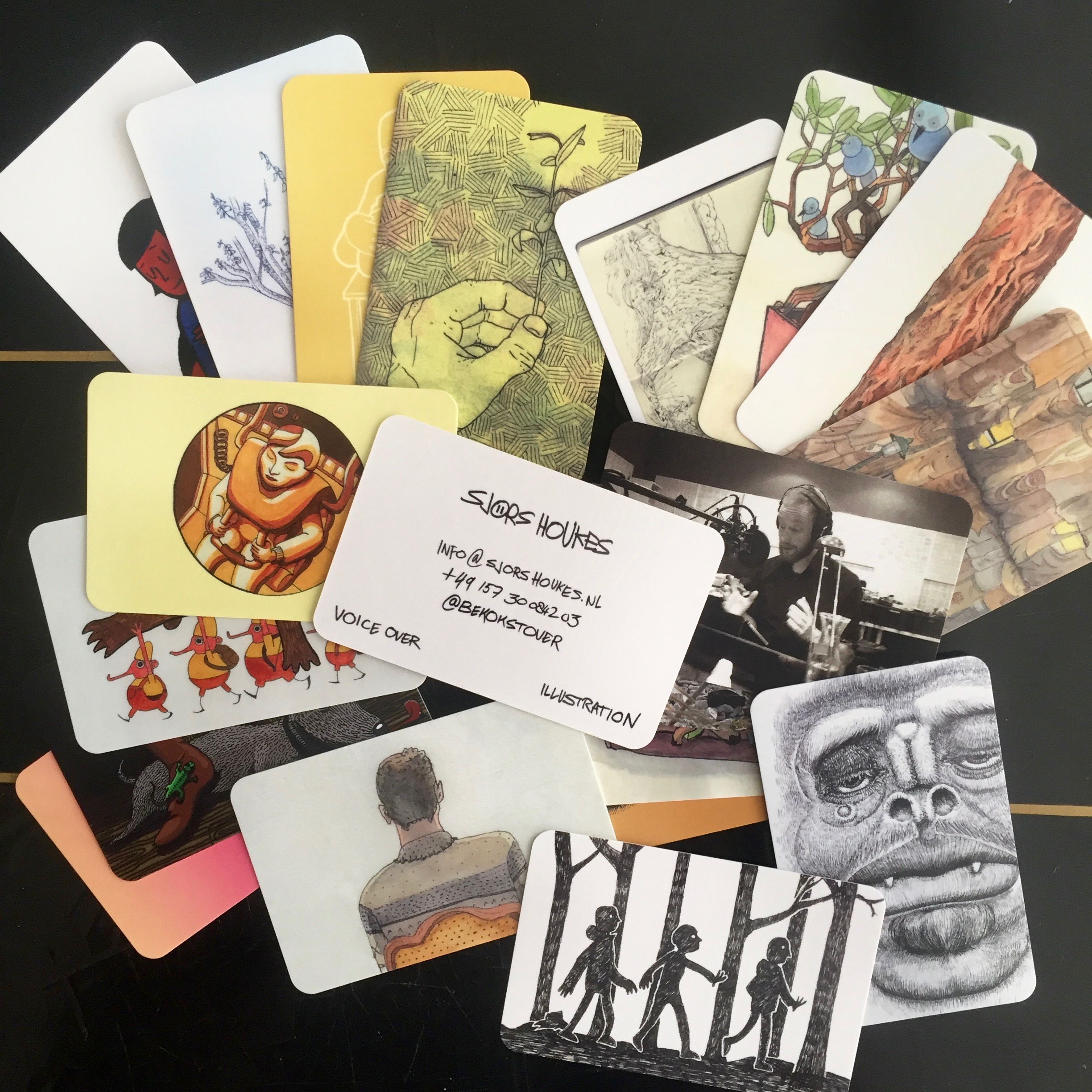 Personal business cards (2017)