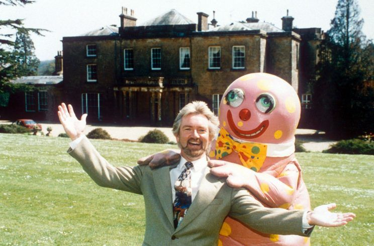 Noel and Blobby outside Cricket House, 1994.