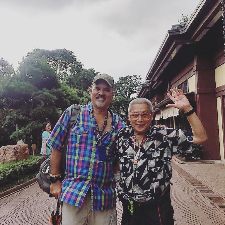 With famous Hong Kong TV/movie actor Lau Siu Ming in Nan Lian Garden.