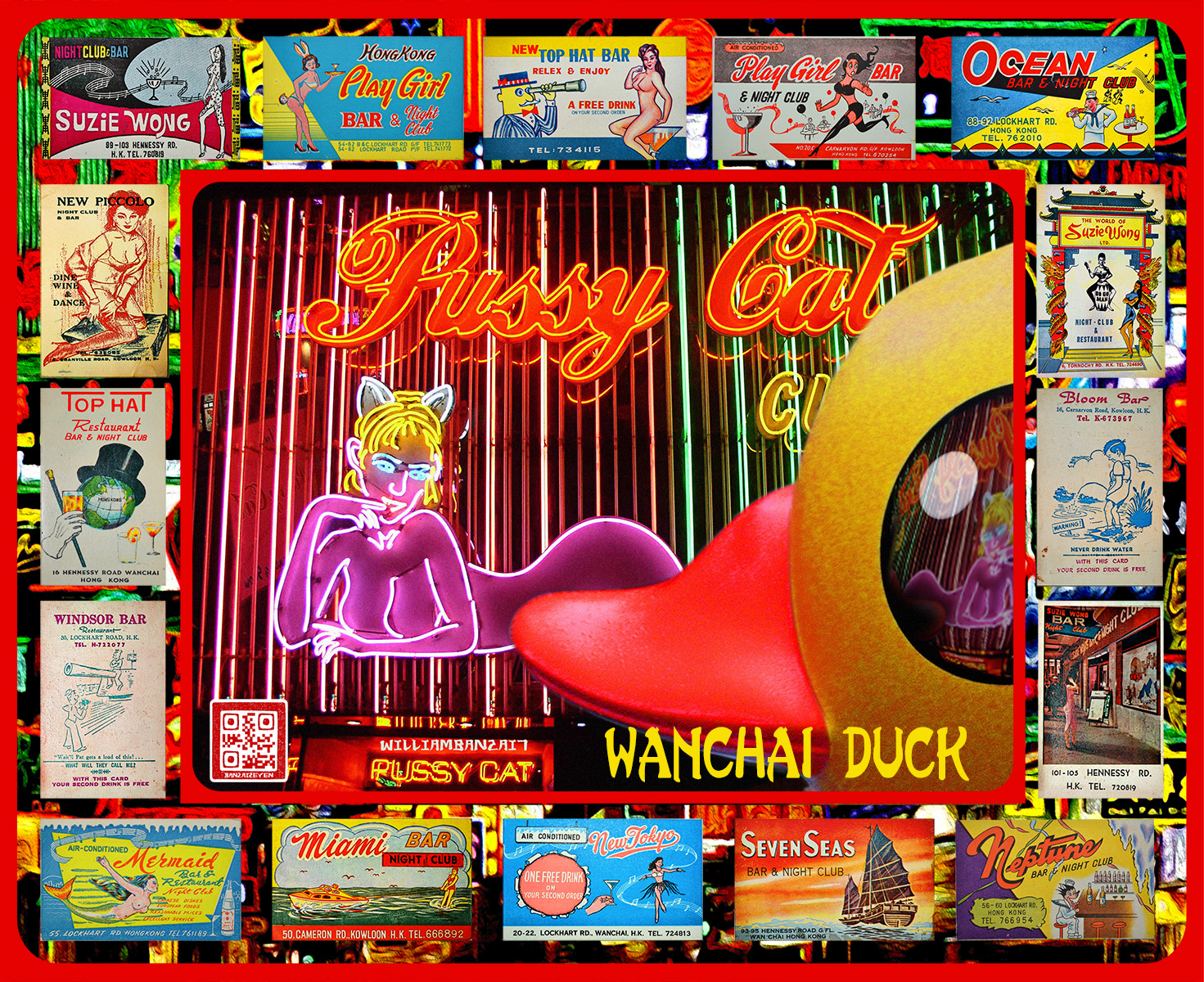 Wanchai Duck  (All Rights Reserved, Art Work by William Banzai7) Bar Card Collection courtesy of m20wc51 on  Flickr