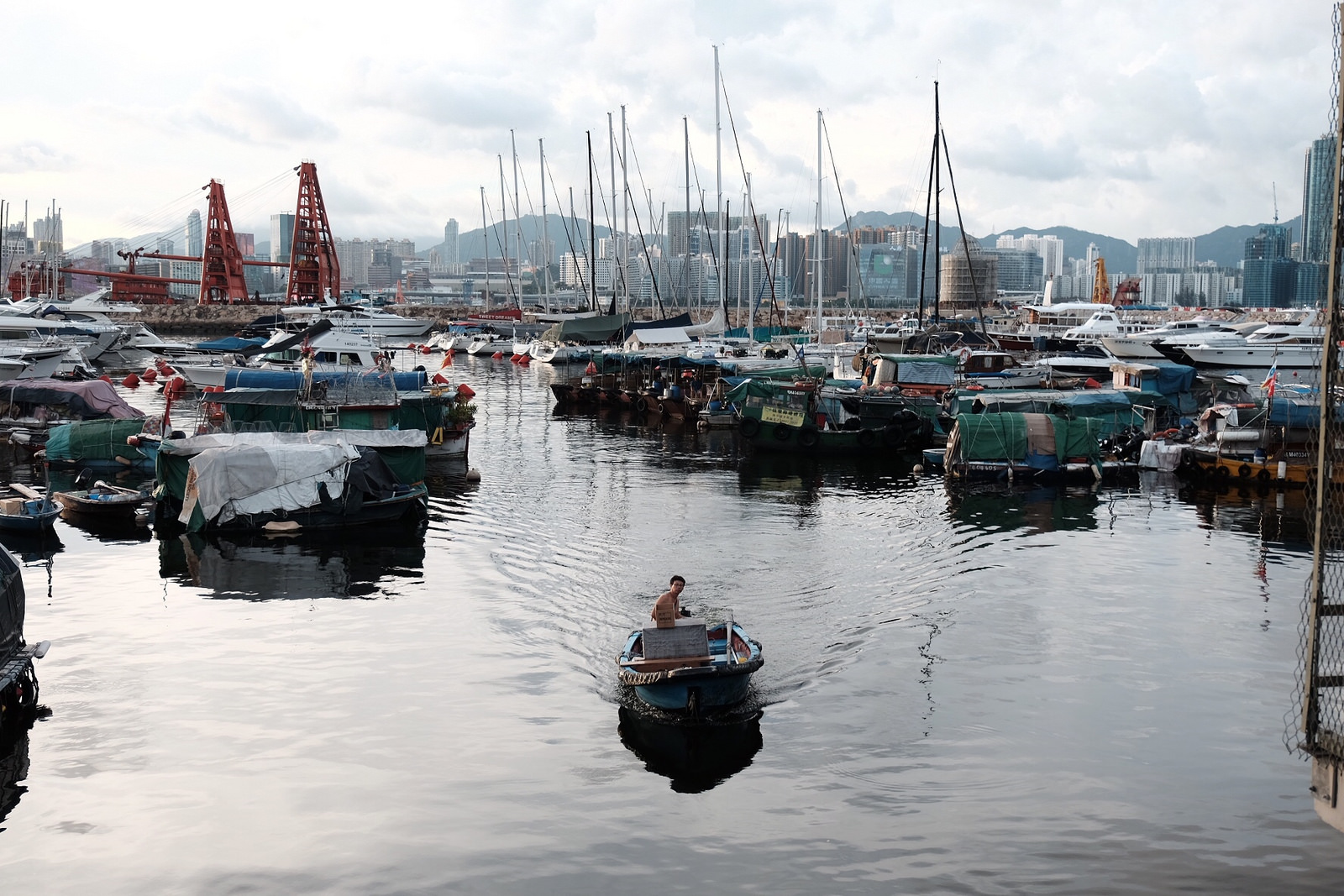 Causeway Bay Typhoon Shelter, an eclectic collection of seacraft located adjacent to an area formerly known as East Point.