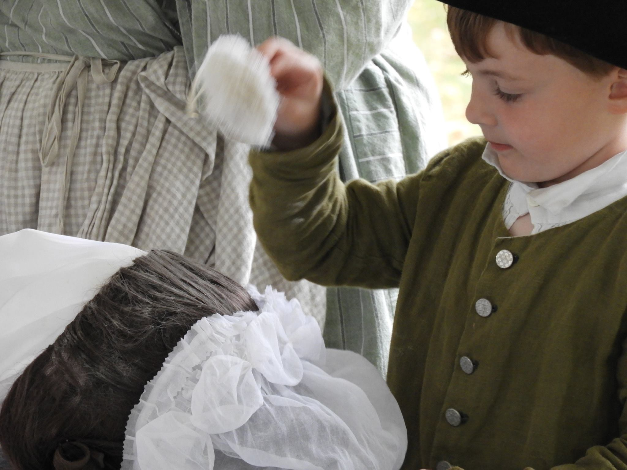 Child with Hair Powder
