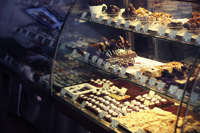 Inside Choco La in Pondicherry  on Flickr.    Via Flickr:   Cigarettes and chocolate milk  These are just a couple of my cravings  Everything it seems I likes a little bit stronger  A little bit thicker  A little bit harmful for me   If i should buy jellybeans  Have to eat them all in just one sitting  Everything it seems i like's a little bit sweeter  A little bit fatter  A little bit harmful for me   And then there's those other things  Which for several reasons we won't mention  Everything about them is a little bit stranger  A little bit harder  A little bit deadly   - Rufus Wainwright, Cigarettes and Chocolate Milk