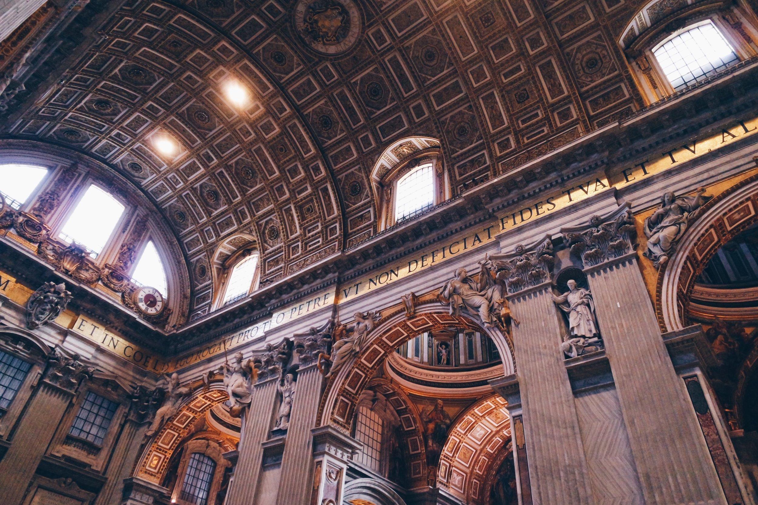 ceiling st peter basilica rome italy.JPG