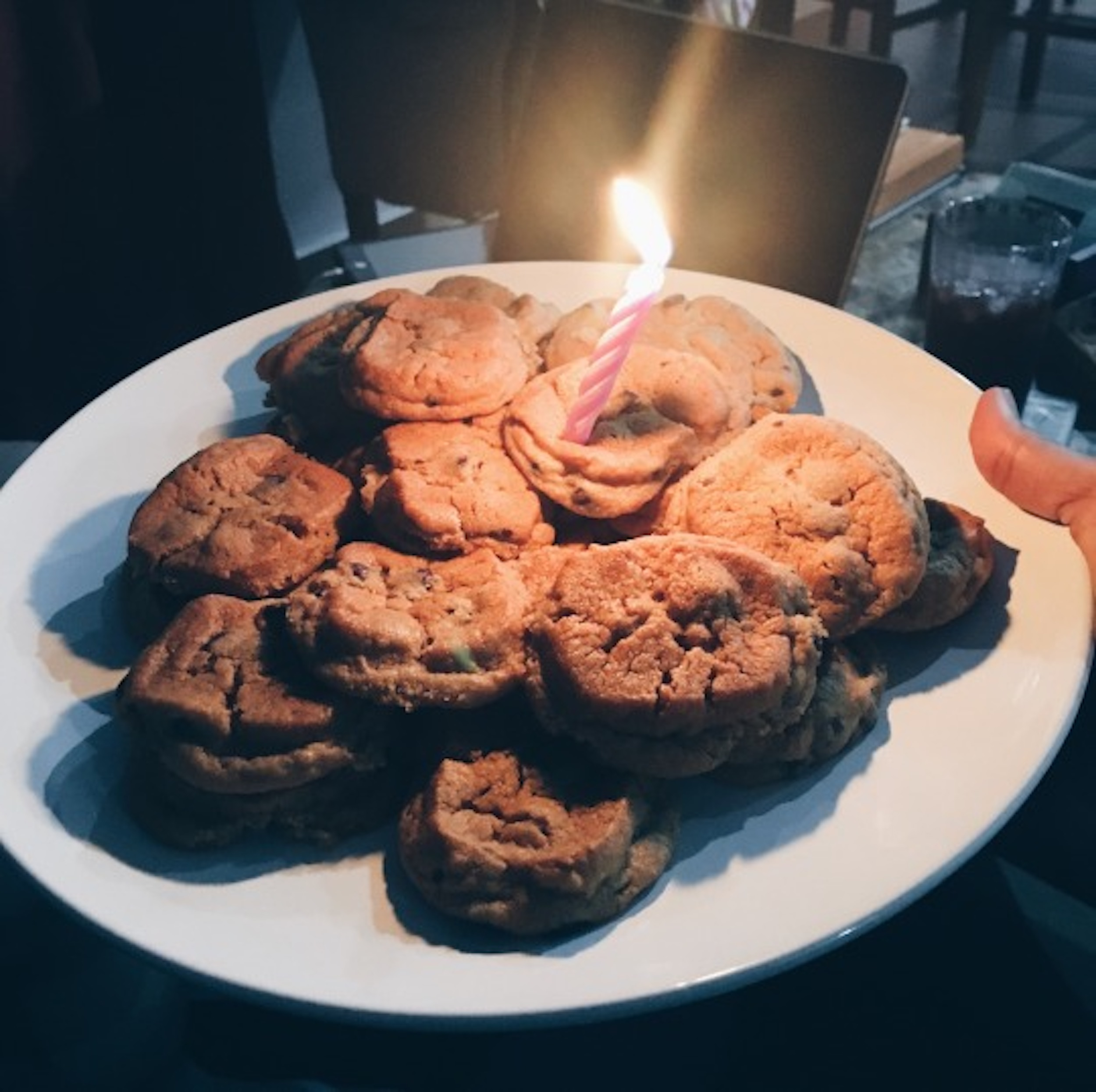 Birthday cookies for the birthday girl.