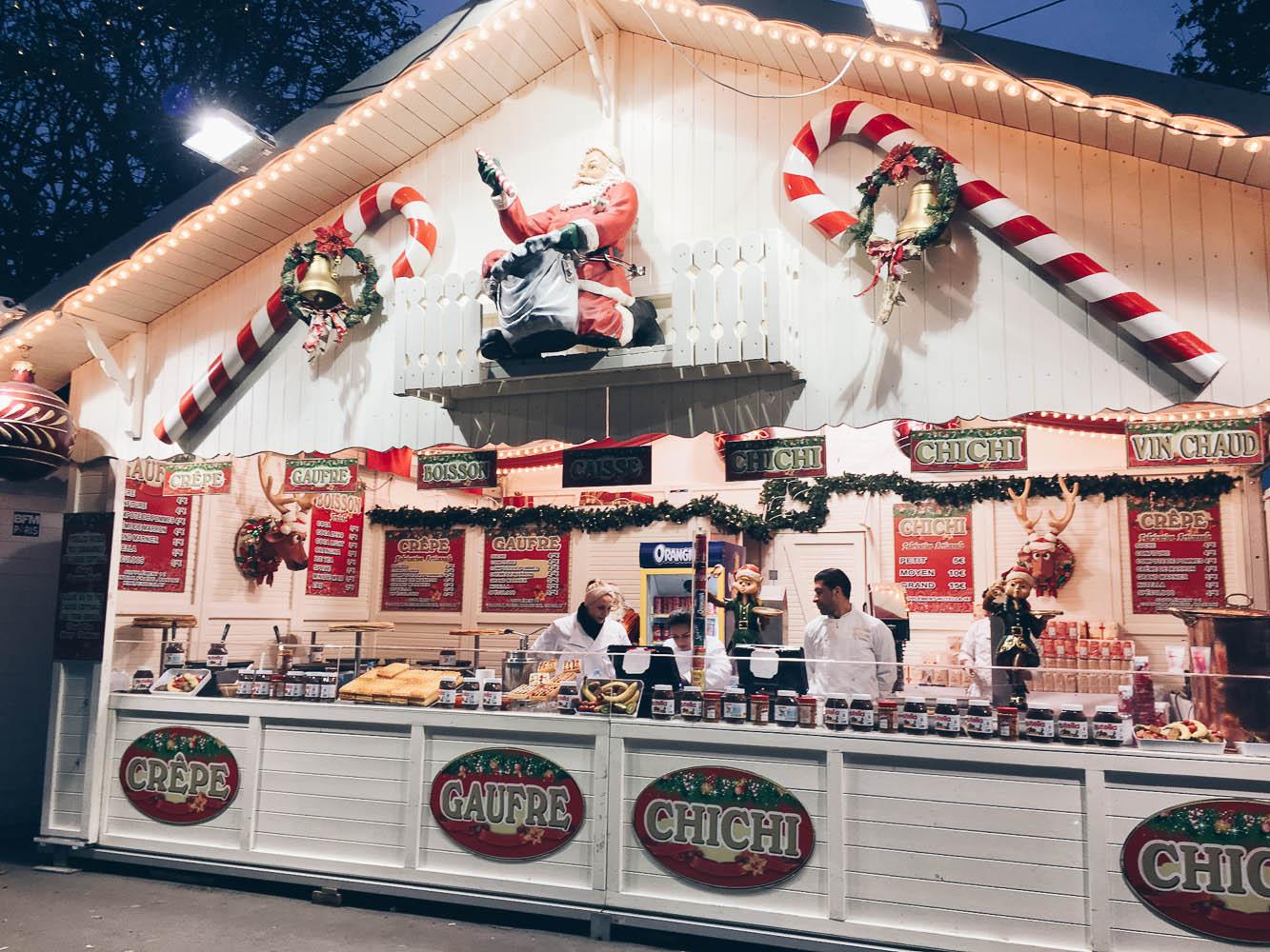 christmas market paris france