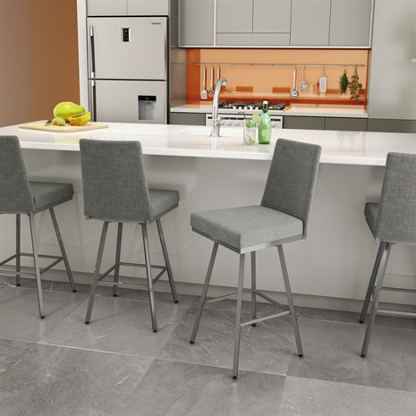 Linea - Chair$179.00Non-Swivel Counter or Bar Height$189.00Swivel Counter or Bar Height$199.00In-Store Purchase OnlyCustomize your barstools and choose from a generous selection of metal finishes and seat coverings.
