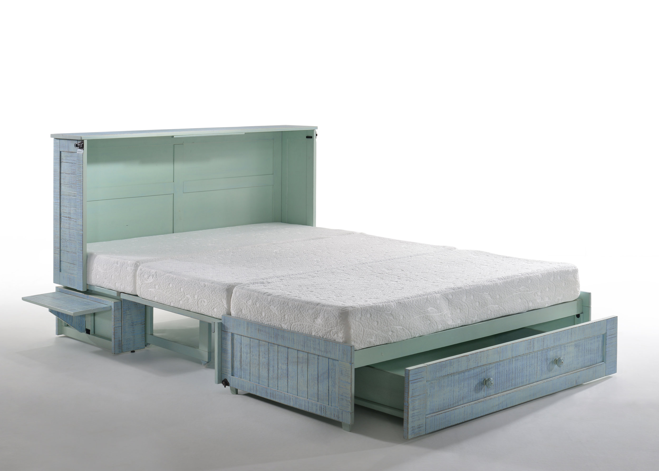 Poppy Murphy Cabinet Bed Skye with Drawer Opened & Tray Up.jpg