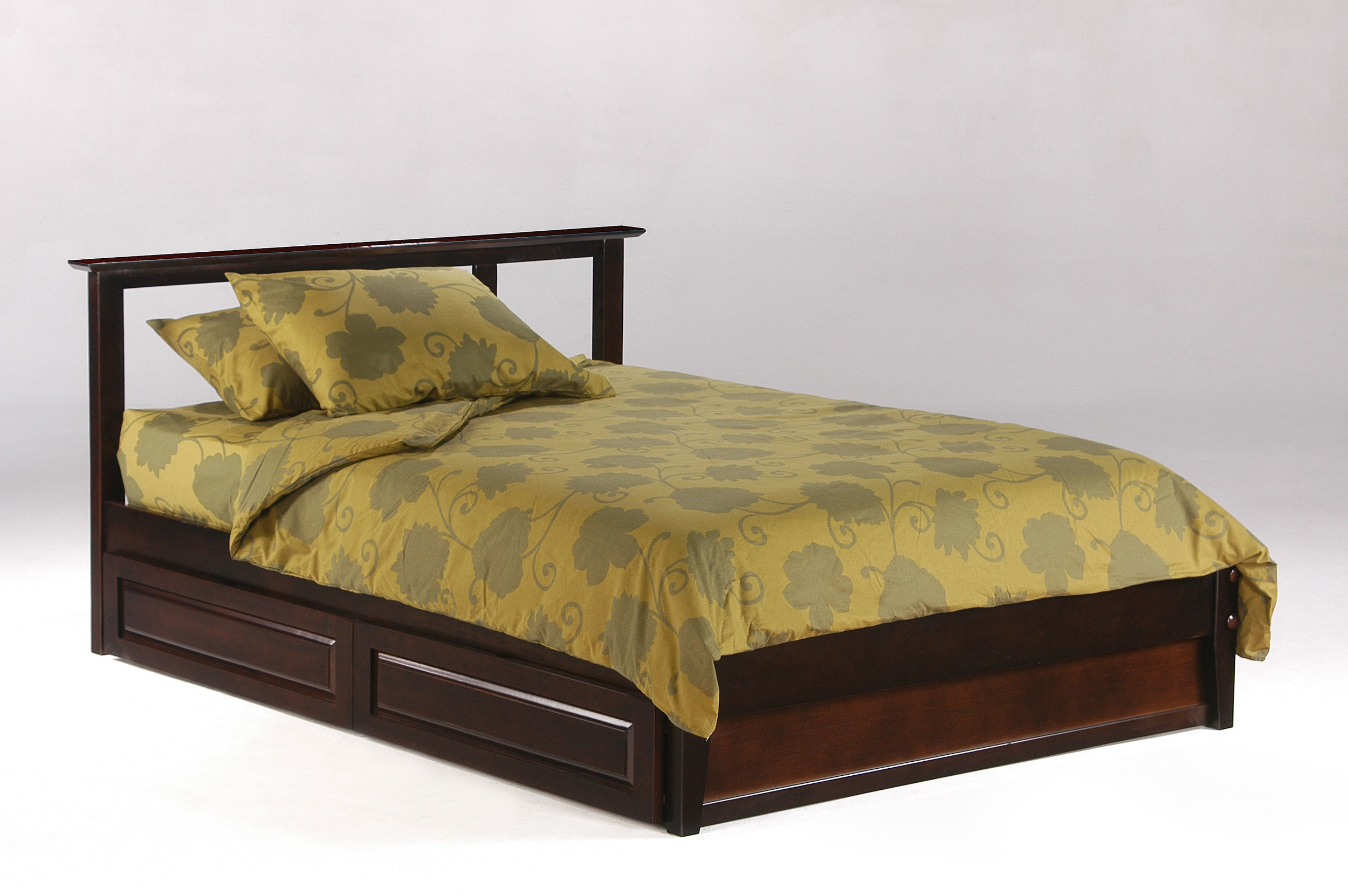 Platform Beds with storage make sense for small bedrooms