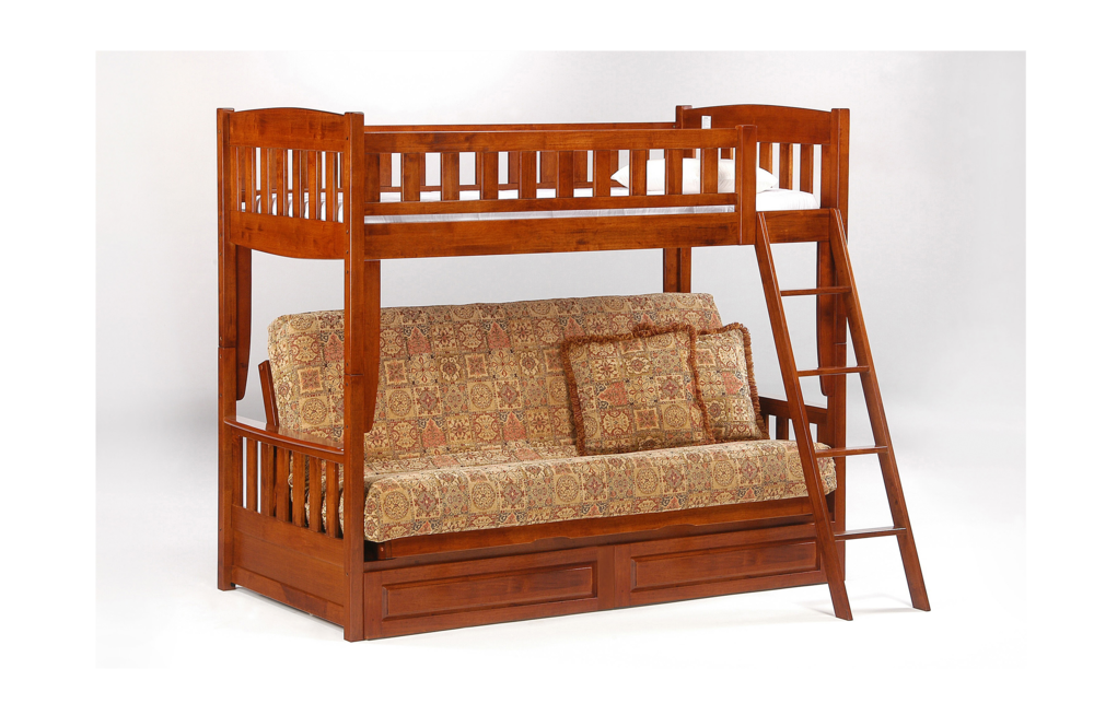 Cherry Twin Full Futon Sofa Bunk Bed The Futon Company