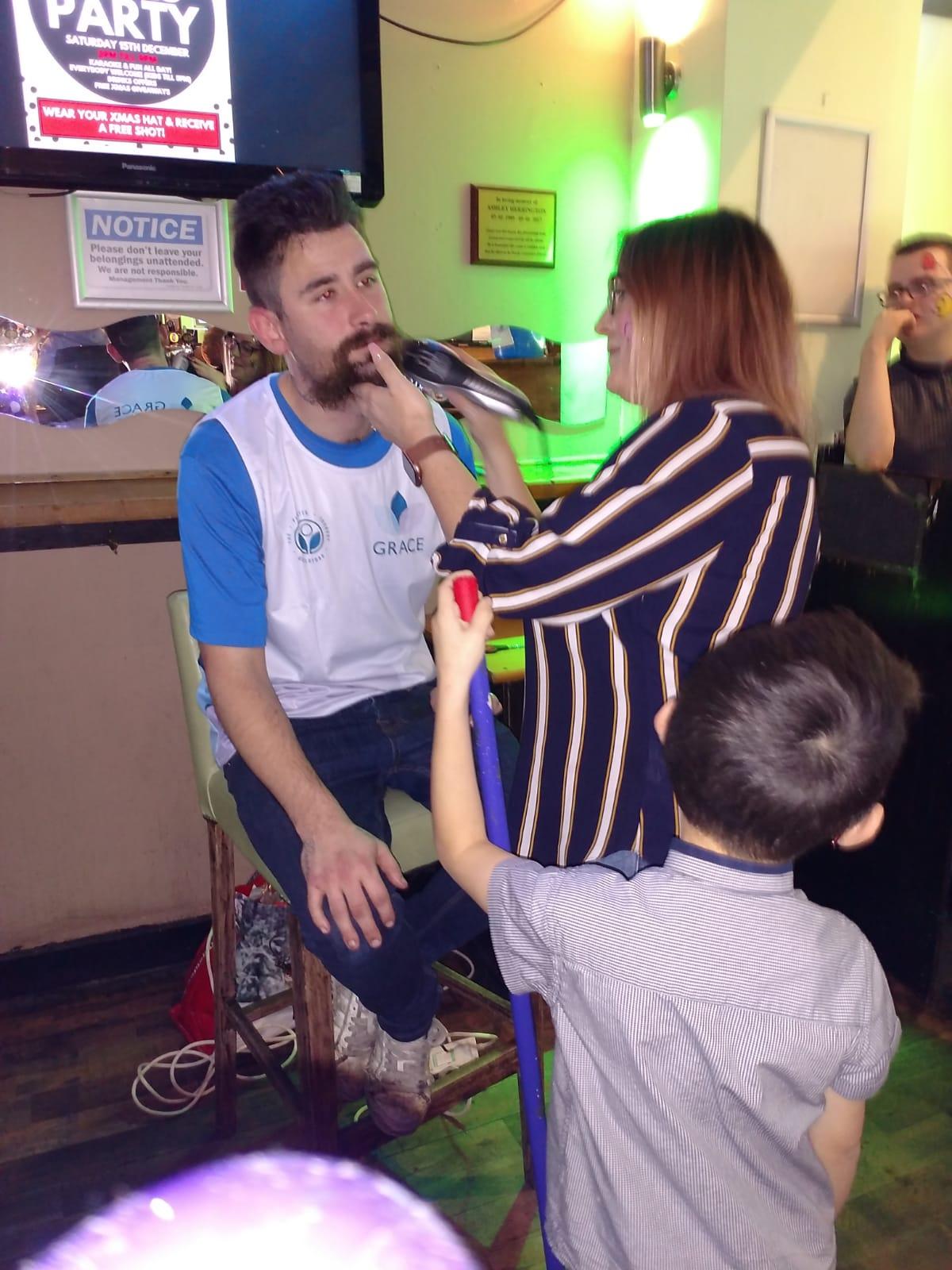 Beard Shaving in action