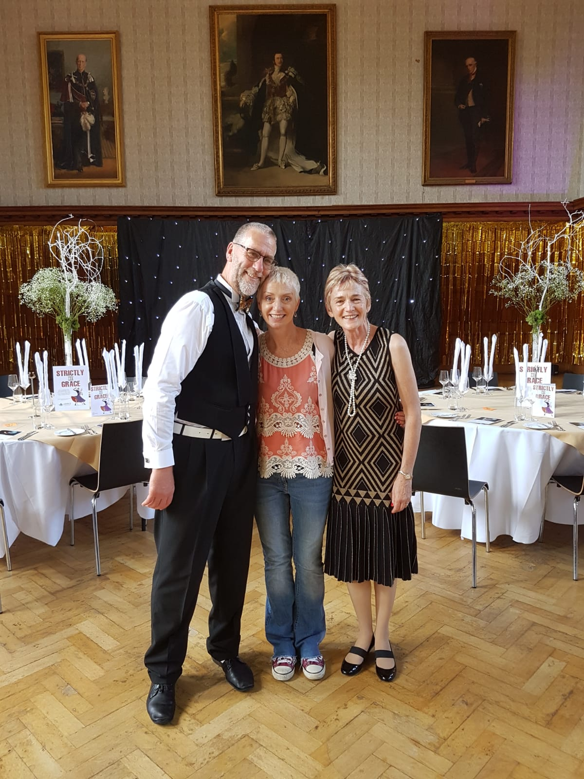Pandy with the runners up for Strictly for GRACE last year