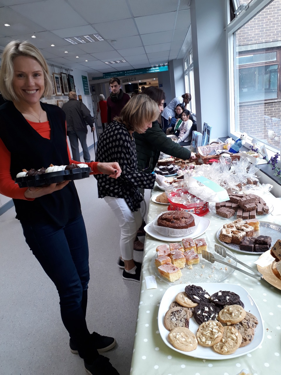 GRACE team at the Cake Sale for Ovarian Cancer Awareness at the Royal Surrey County Hospital