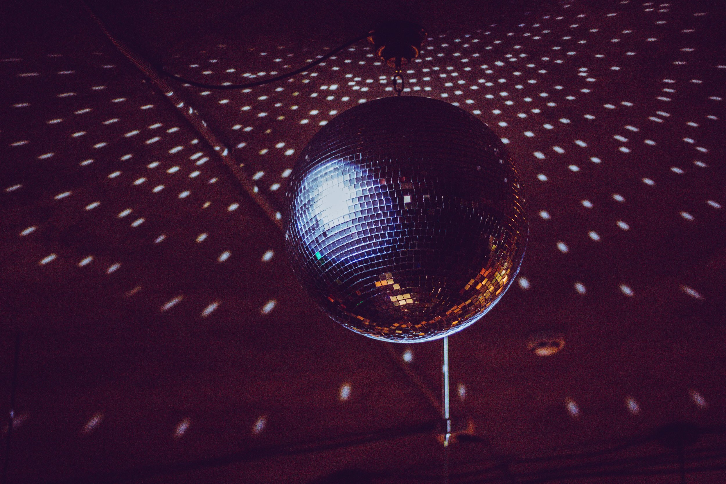 Glitter ball at Glitter and Lace for Macmillan and GRACE charity dance evening
