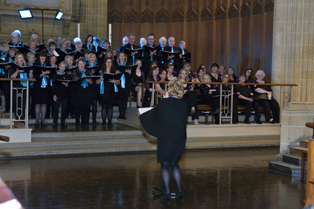 Choir singing at Charterhouse Spring Concert for GRACE