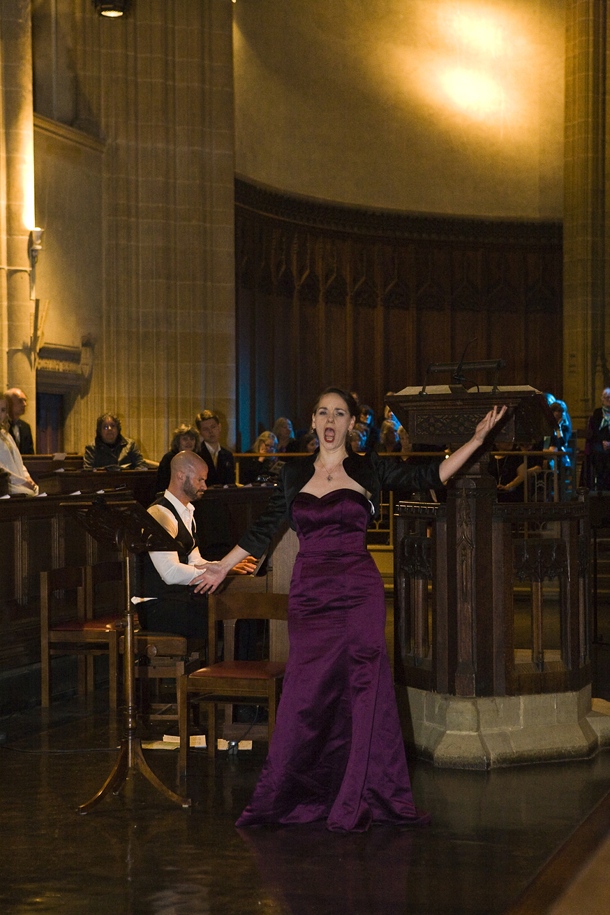 Woman singing at Charterhouse Spring Concert for GRACE