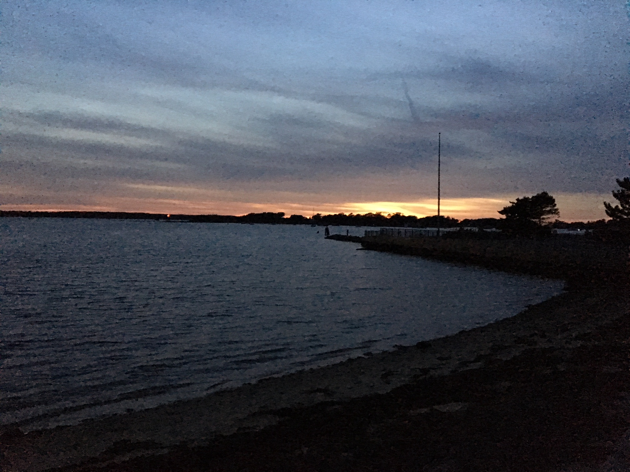Evening view across Great Harbor.