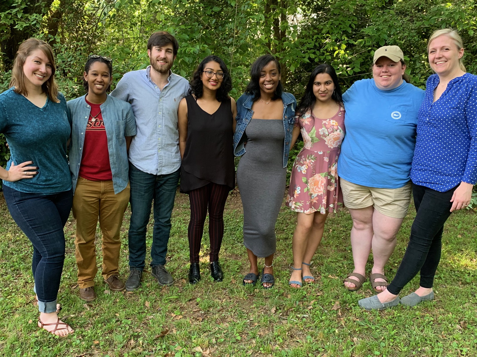 From L to R: Jennifer, Britessia, Garrett, Tulip, Alicia, Yamini, Lauren & RRG.  (Not pictured: Jada & Princess)