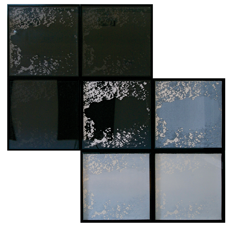 Land's End Installation - Seven photo screen prints 76 x 76 cm (all)