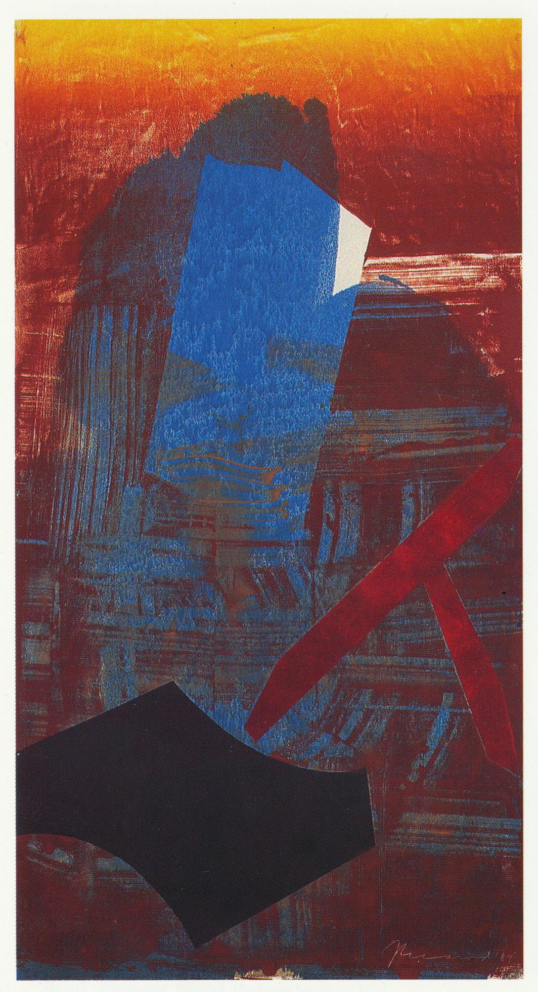 101) 'Blank Thought, Blood Remembering' IX, 1989 Monotype 185x99cm.jpeg