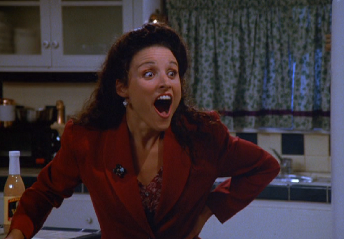 In episodes 41-44, Elaine's role practically vanishes. Actor Julia Louis-Dreyfus was on maternity leave at that point in filming.