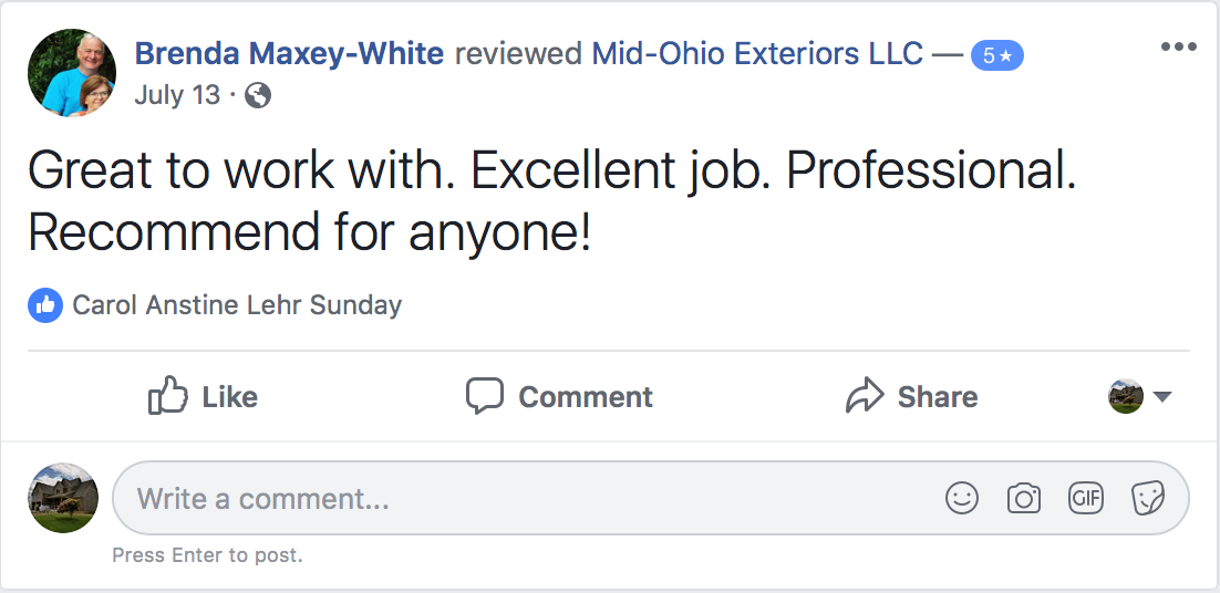 https://www.facebook.com/pg/Mid-Ohio-Exteriors-LLC-1632177643533263/reviews/?ref=page_internal