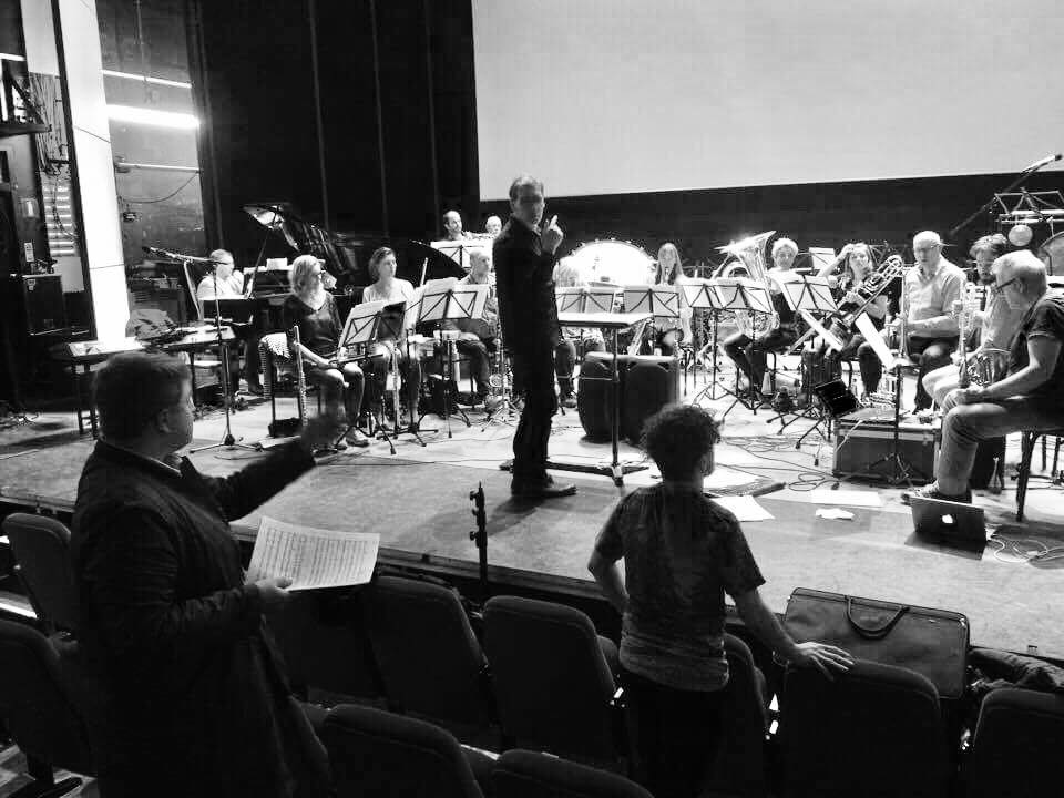 Working with orkest de ereprijs, VocalGeneration6 and Rob Vermeulen (cond.) at Podium Giant, Apeldoorn (Netherlands); February 2017