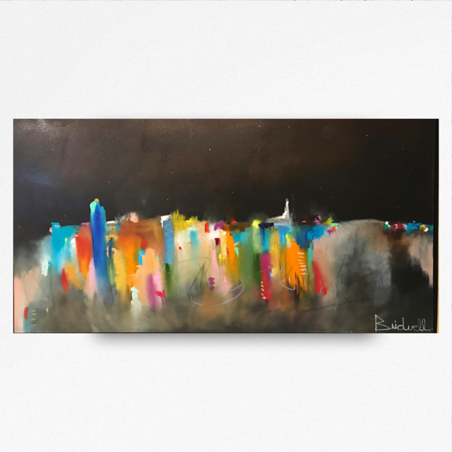 SOLD City Scape   36x60-Oil on Canvas