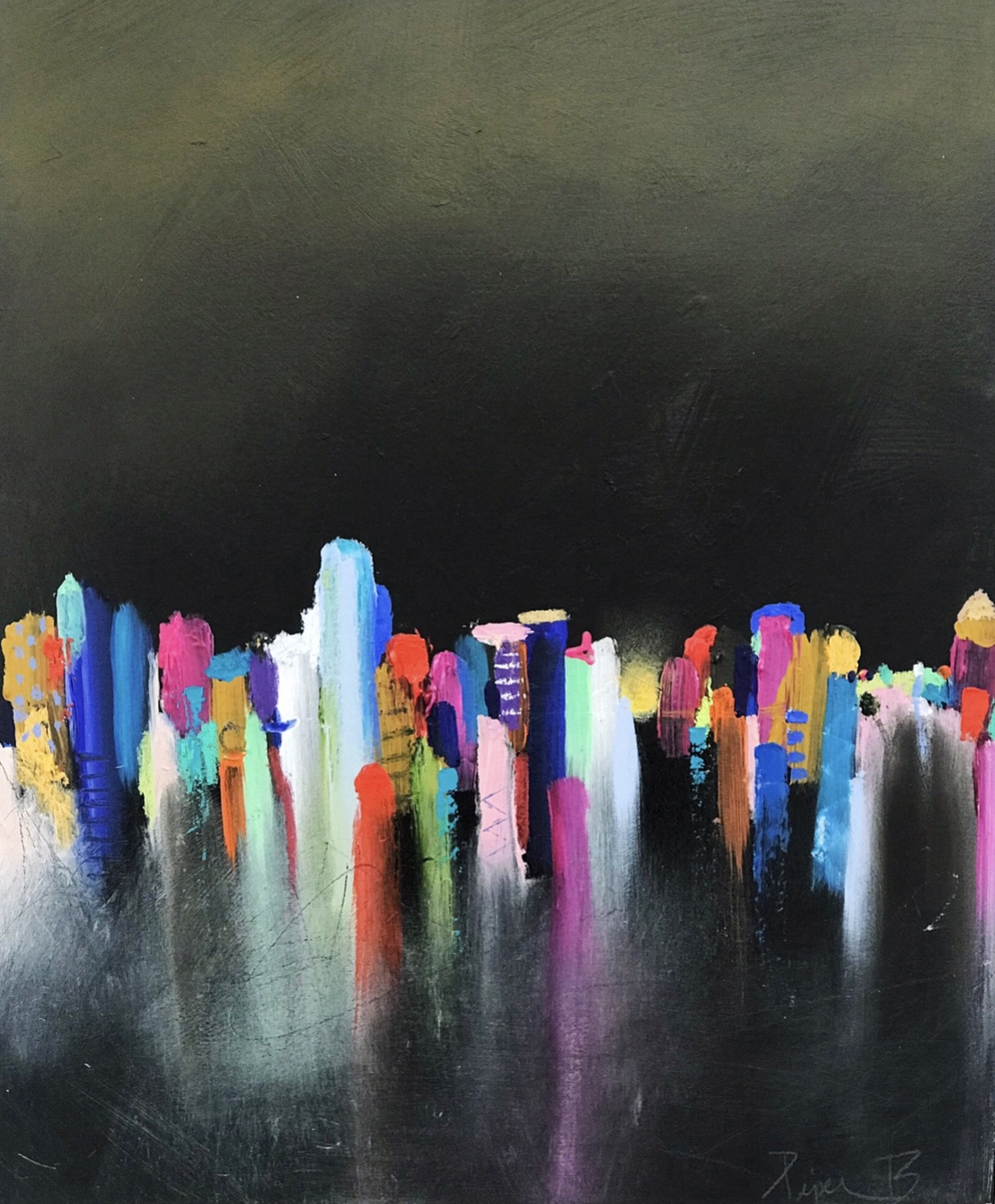 City Scape OIL 12x18 SOLD PIECES of my heart.jpg