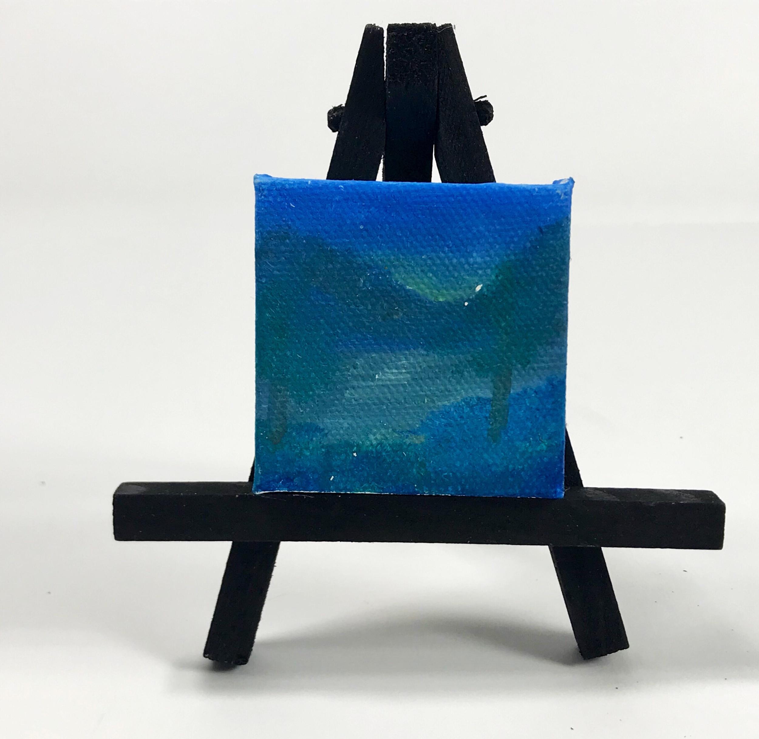 "Blue woods - 2""x2"" Mini Painting"