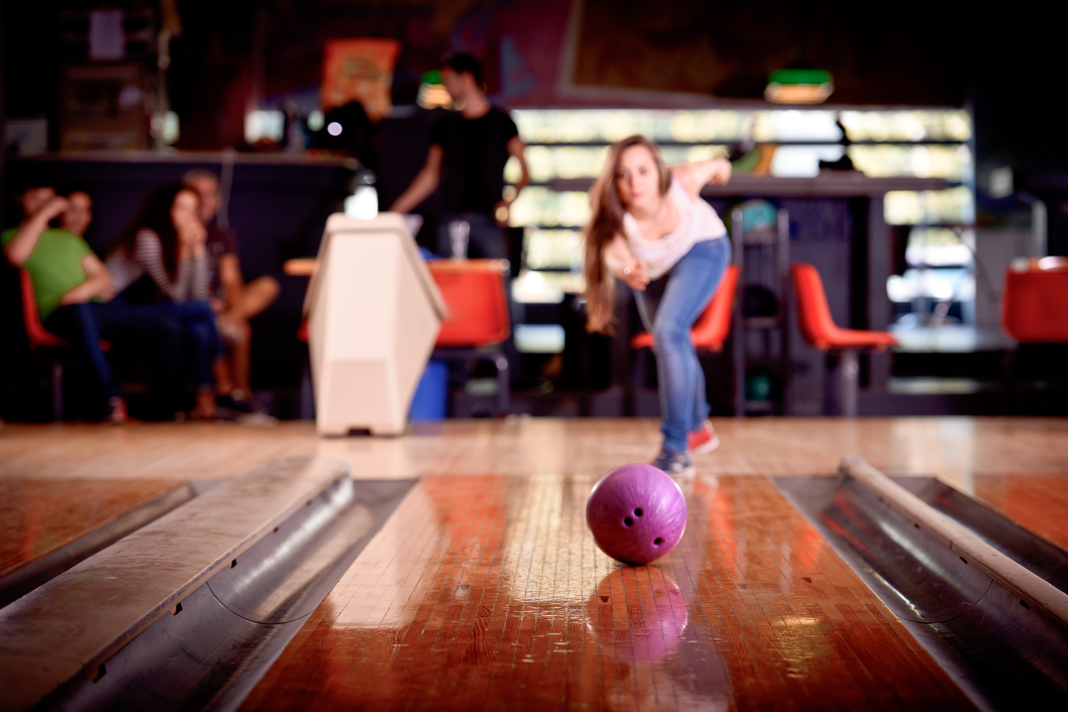 cosmic bowling -Fri & Sat - Starting at 7:30 p.m.Sound & Light show (Cosmic bowling) on Friday and Saturday nights. Music videos are played along with music on the big screens for extra fun.