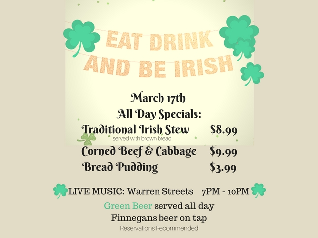 St. Patty's Day - March 17- WOW! Zone