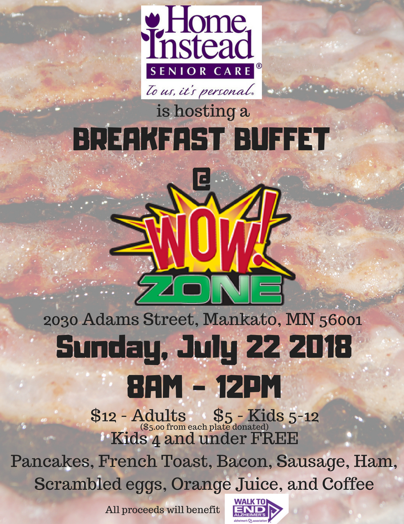 Alzheimers Breakfast - BREAKFAST WITH A CAUSE-WOWZONE-SUNDAY