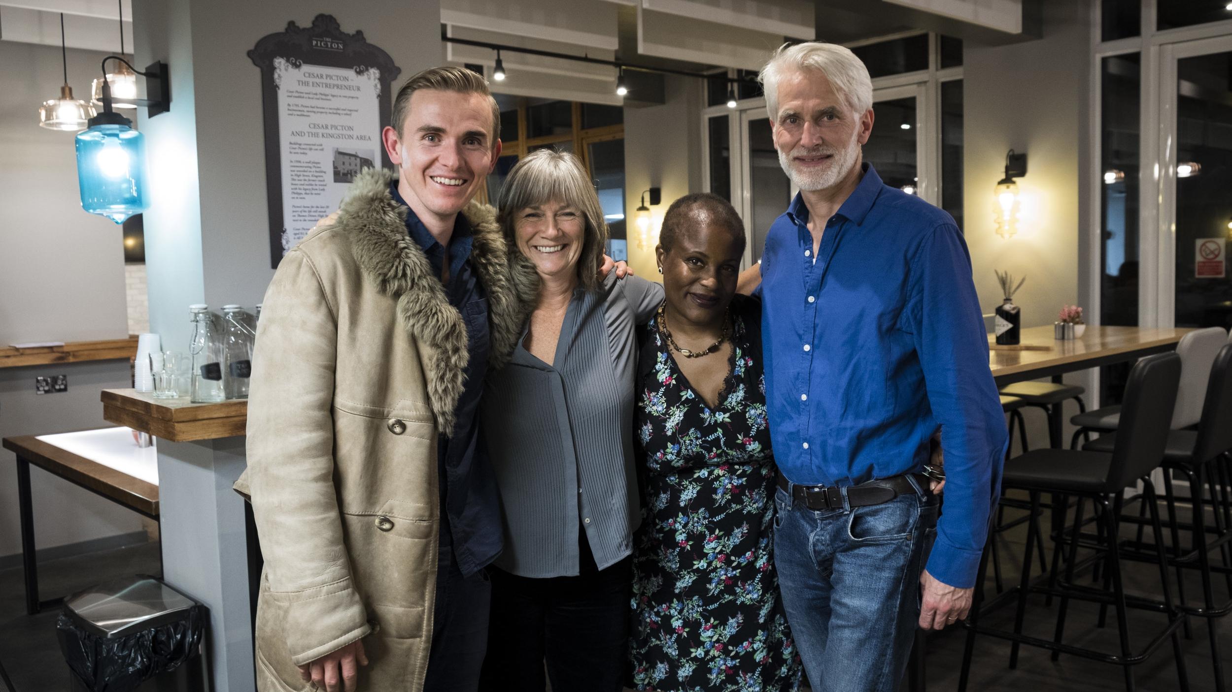 Steven J Fowler, Nell Leyshon, Winsome Pinnock, John Stuart (photo by Madeleine Elliott)