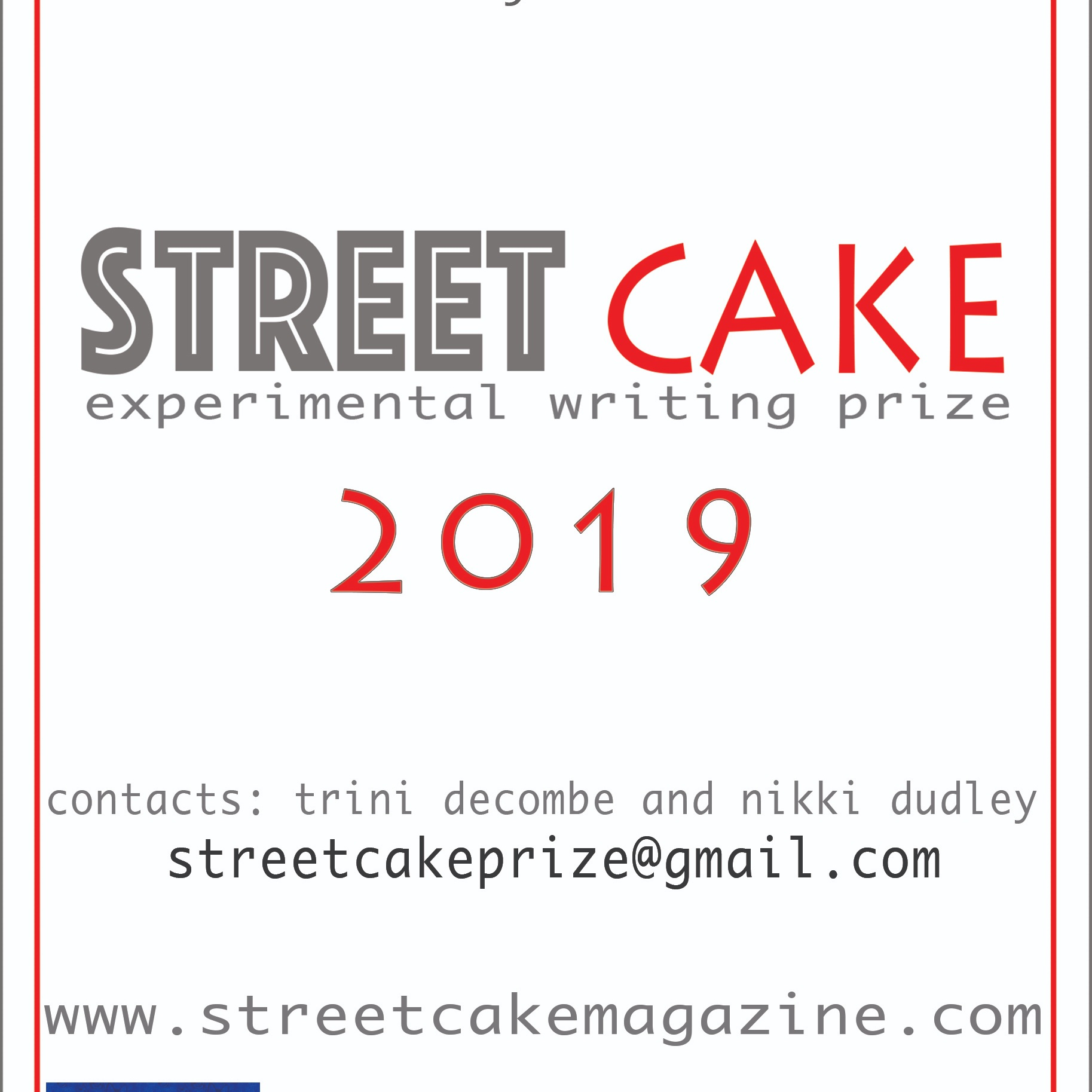 The Streetcake Experimental Writing Prize