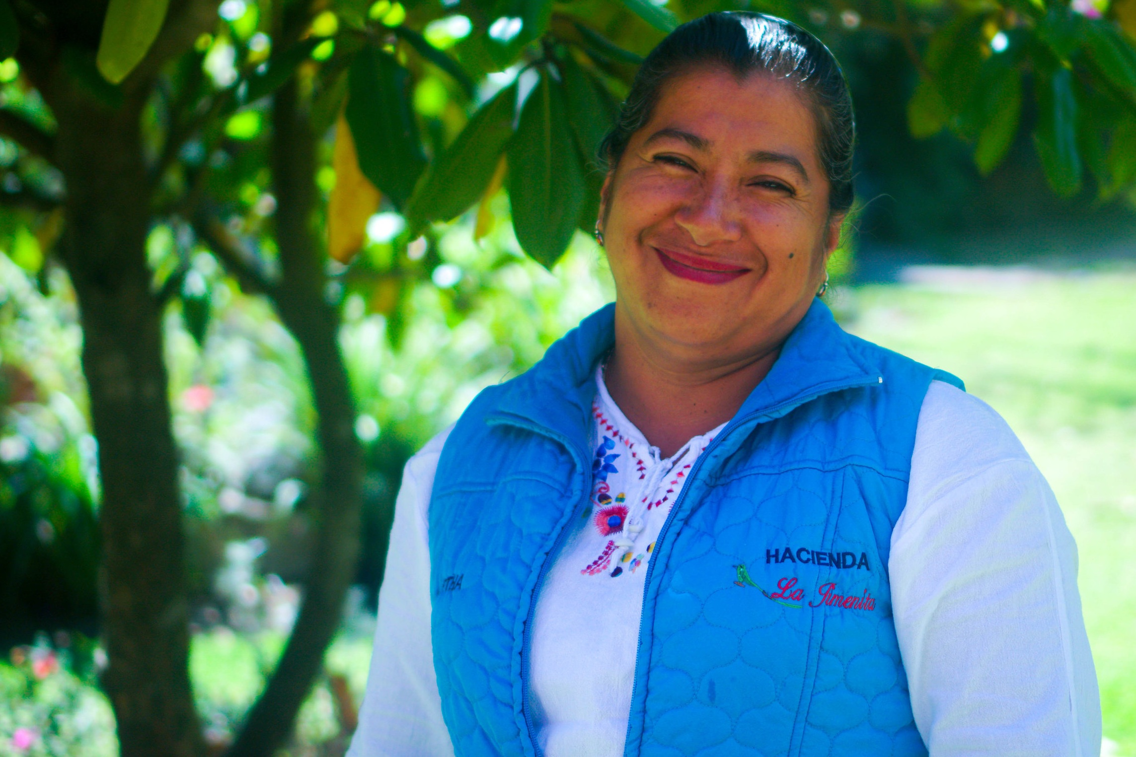 Martha Gonzaga - Born the 7 of April in Urcuqui-Imbabura in the northen province of Ecuador, raised in the country side where she learned the values of protecting the land and live in harmony with the environment. She got married at the age of 19 and is a devoted wife and mother of 3 kids of 23, 19 and 12. She has been working at the hospitality business for 7 years, and she looks after all the guests, making sure you always have a smile.