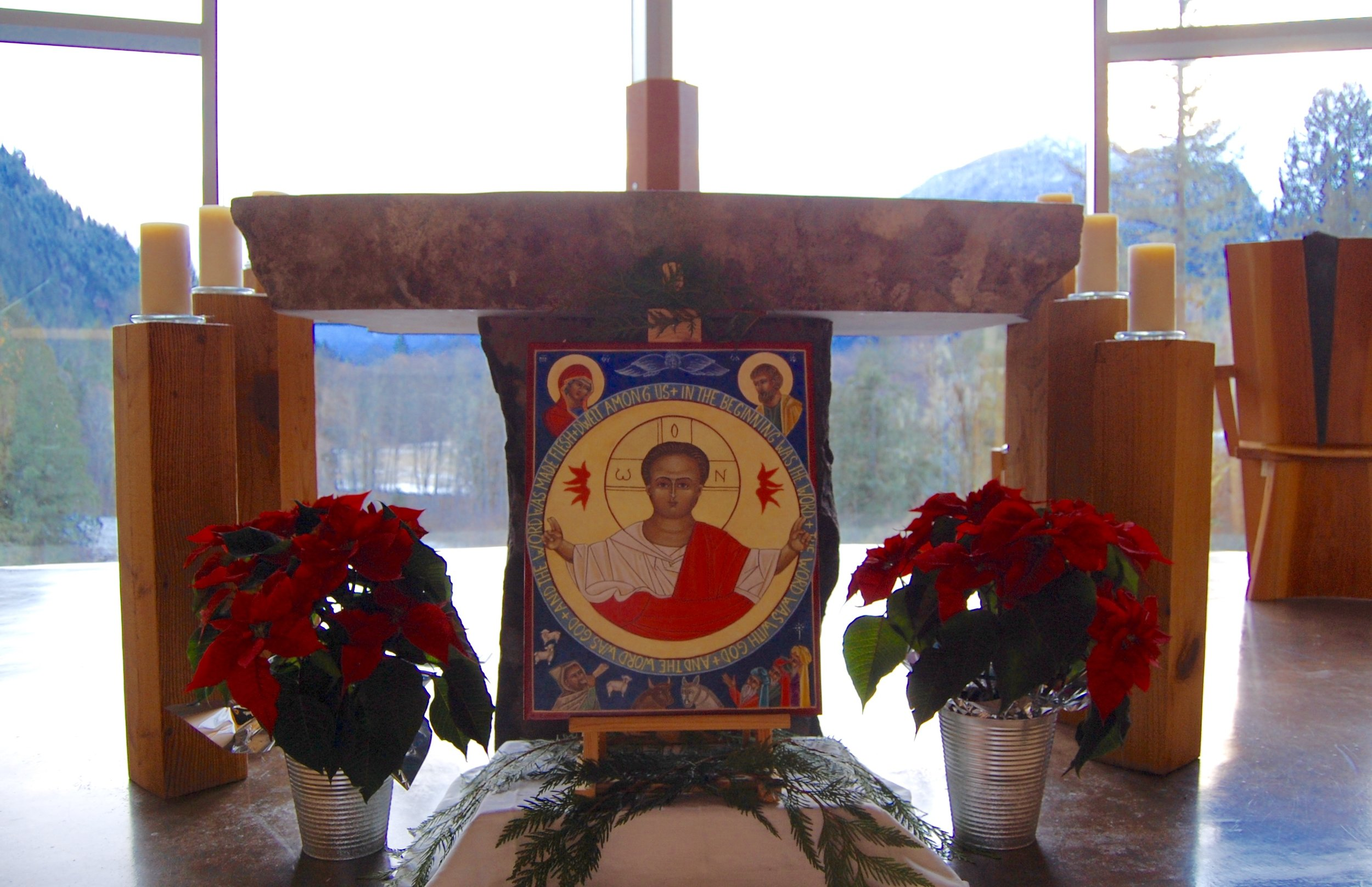 A new icon of the Divine Word written by one of our sisters, which was blessed during the First Vespers of Christmas on Christmas Eve.