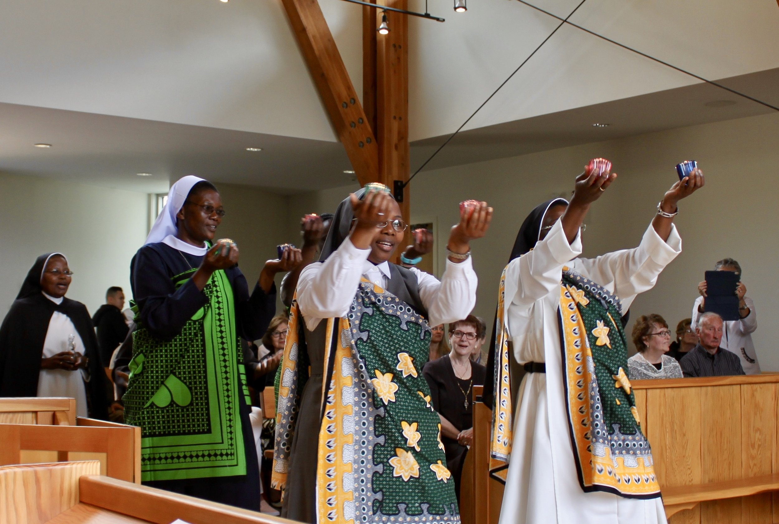The offeratory procession was graced by Sister's friends and family members from Tanzania and Kenya.