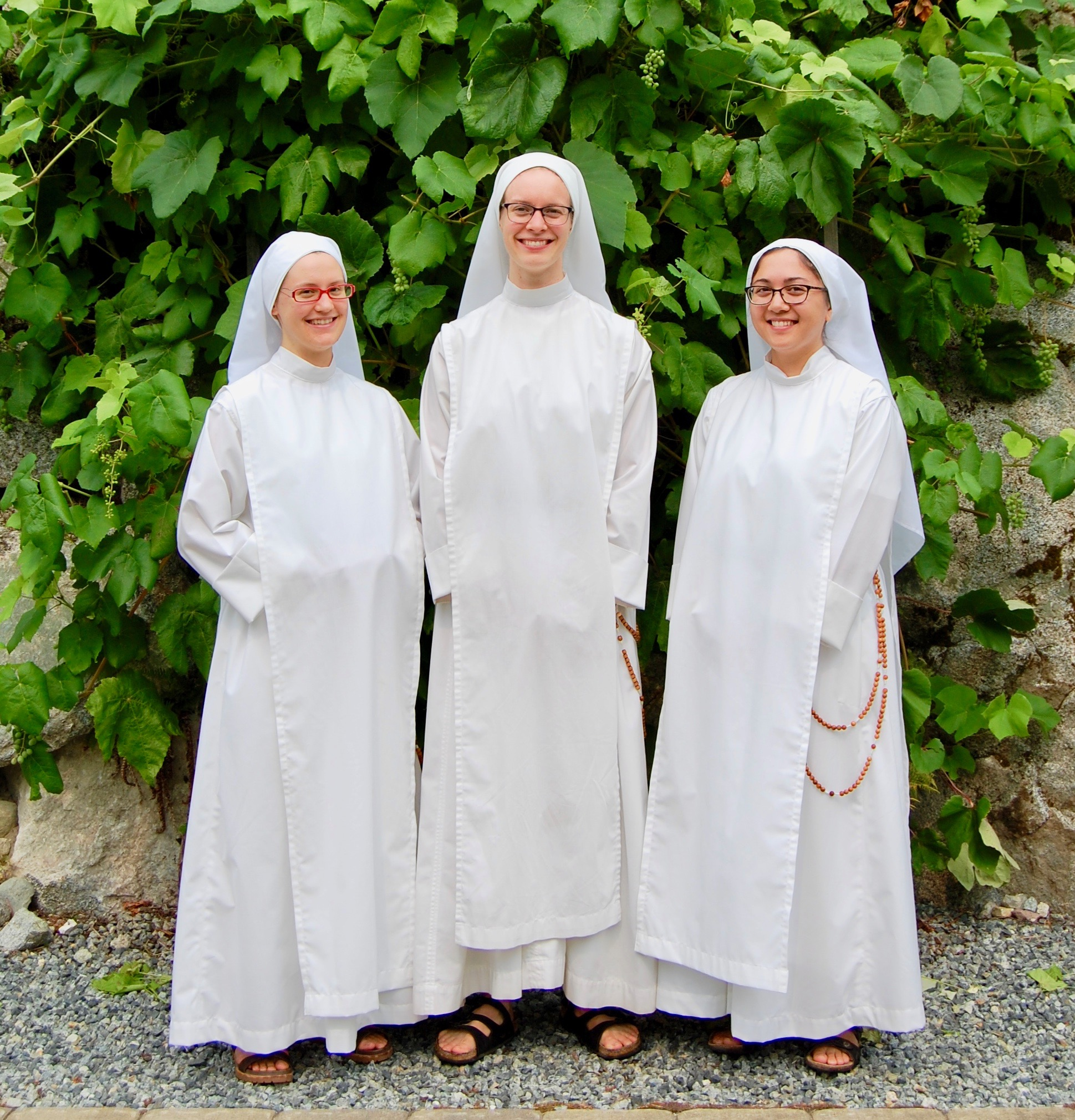 Three matching novices…at least until the feast of the Archangels!
