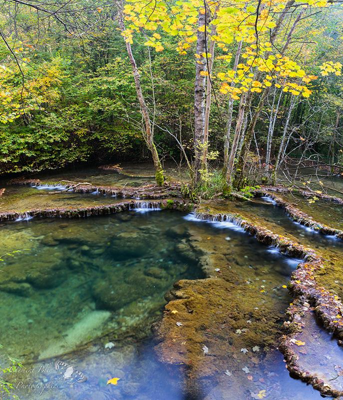 La Cuisance aux couleurs d'automne. Pose longue et filtre polarisant.