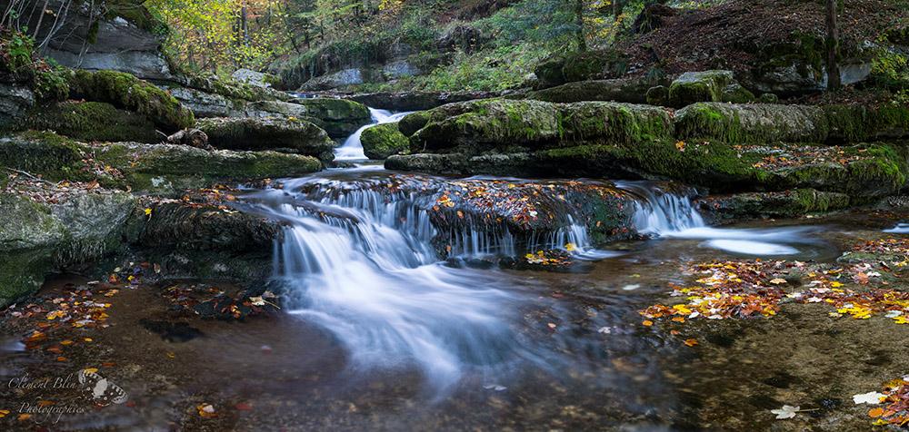 Cascade du Hérisson, automne, Jura