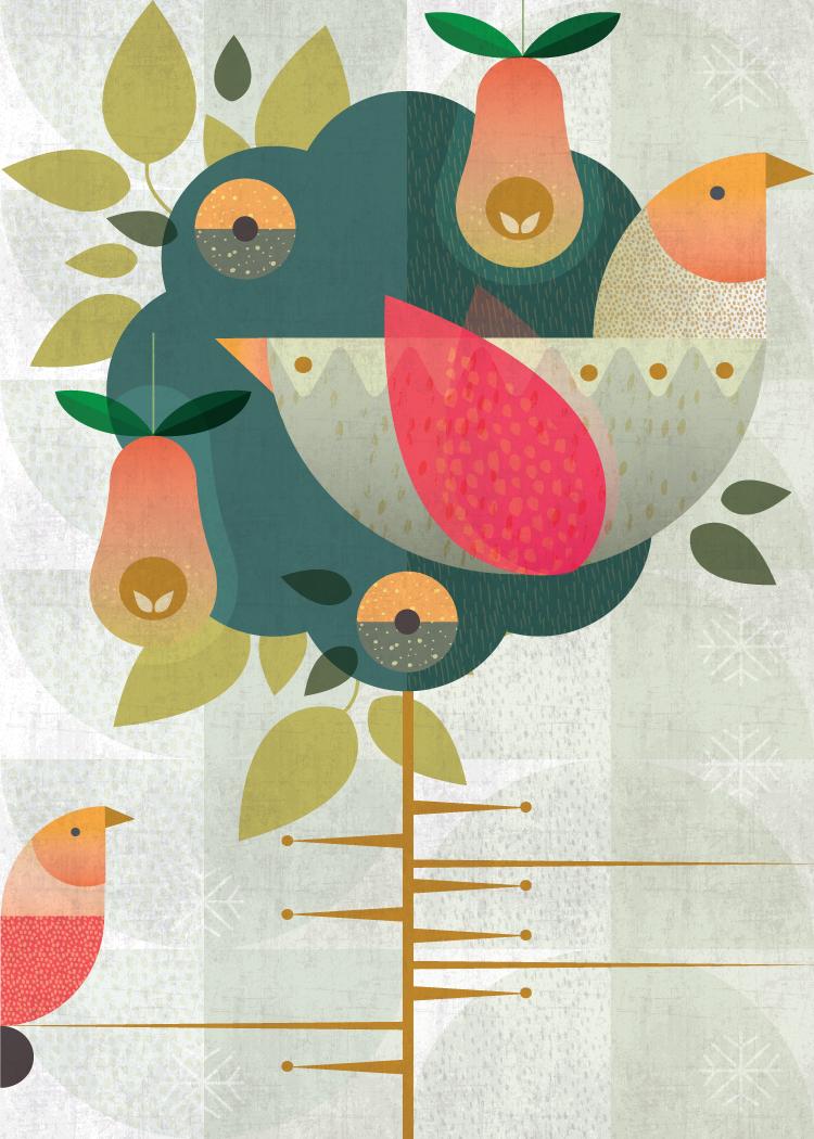 A partridge in a pear tree:  Grandma's Christmas Birds