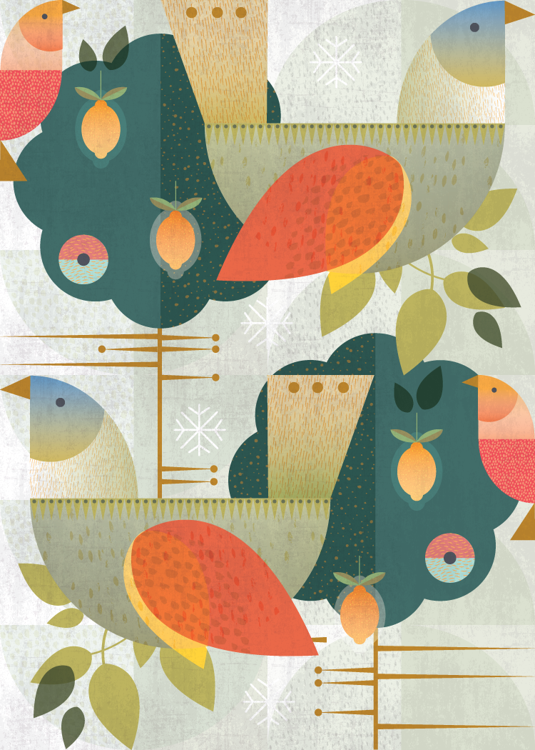 Two turtle doves:  Grandma's Christmas Birds