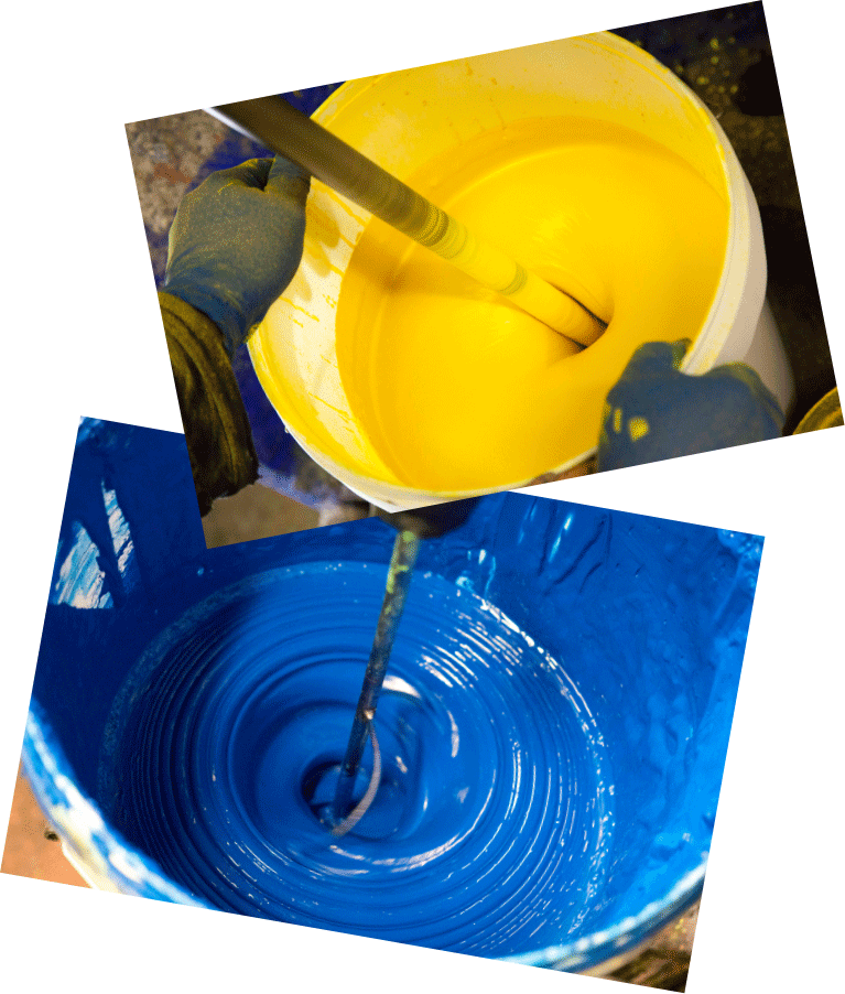 Tommy Art mineral paint mixing