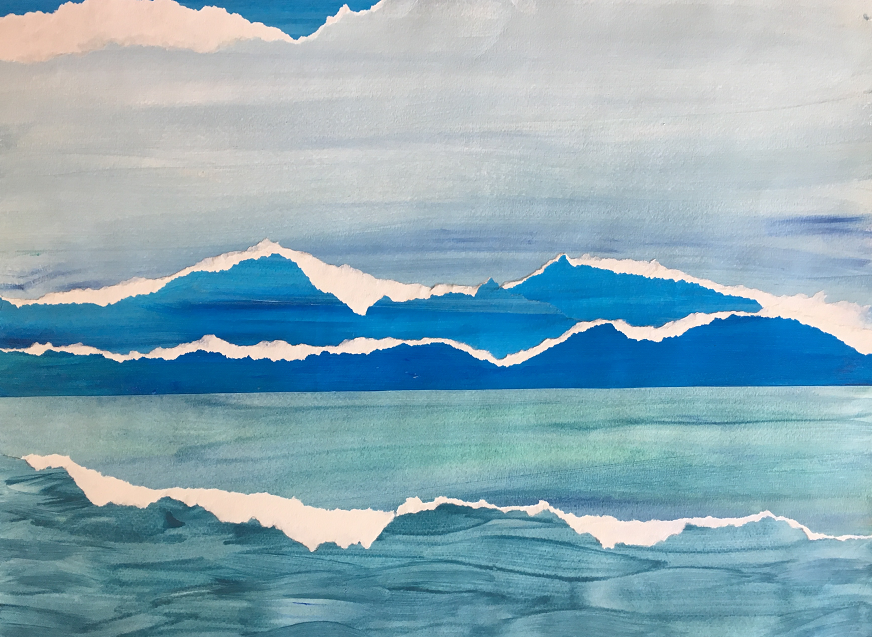 Water and Sky Acrylic Painting
