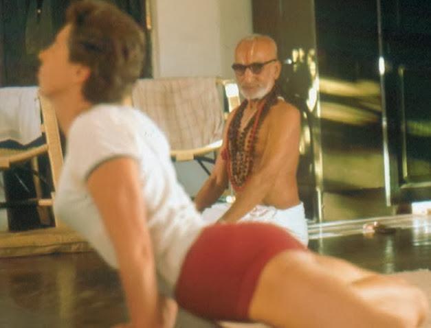 Krishnamacharya teaching Yvonne Millerand from The Yoga of a Yogi