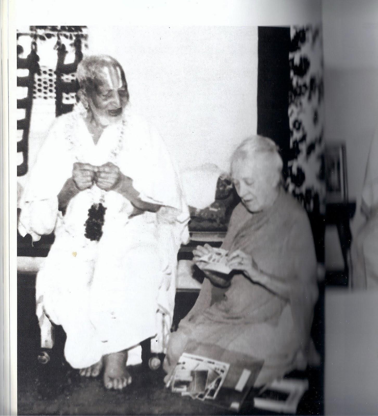 Indra Devi and Krishnamacharya on his 100th Birthday 1988