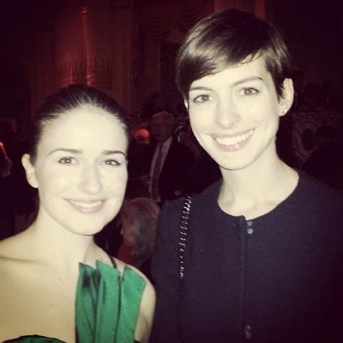 ANN  Opening Night at the Plaza Hotel (Jennifer Isaacson and Anne Hathaway)